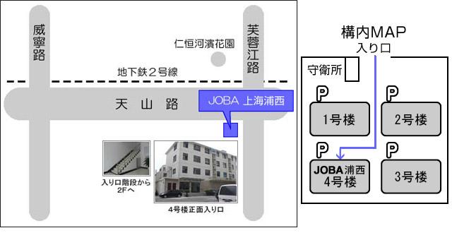 上海浦西の地図